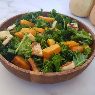 Halloumi and butternut squash salad