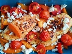 Apricot chicken bake