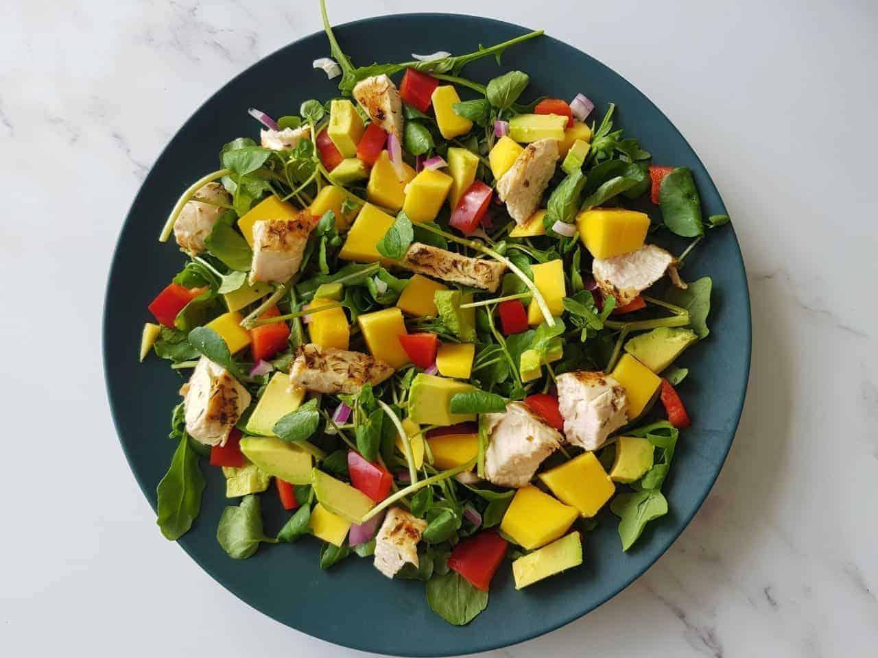 Mango and chicken salad