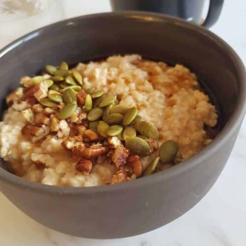 Maple syrup oatmeal