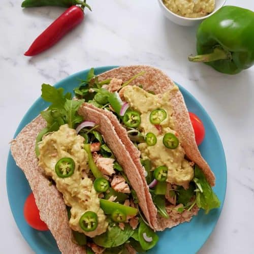 Pulled chicken thigh tacos