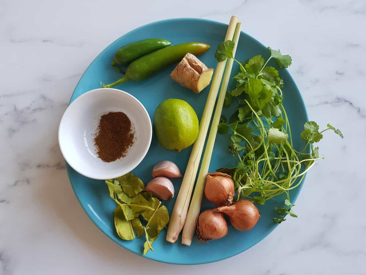thai green curry ingredients