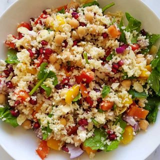 couscous salad with pomegranate.