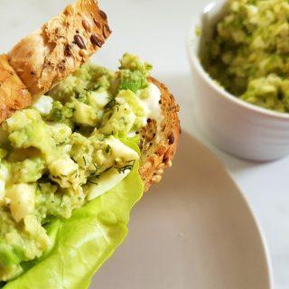 egg avocado salad sandwich.