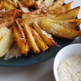 potato wedges with parmesan.