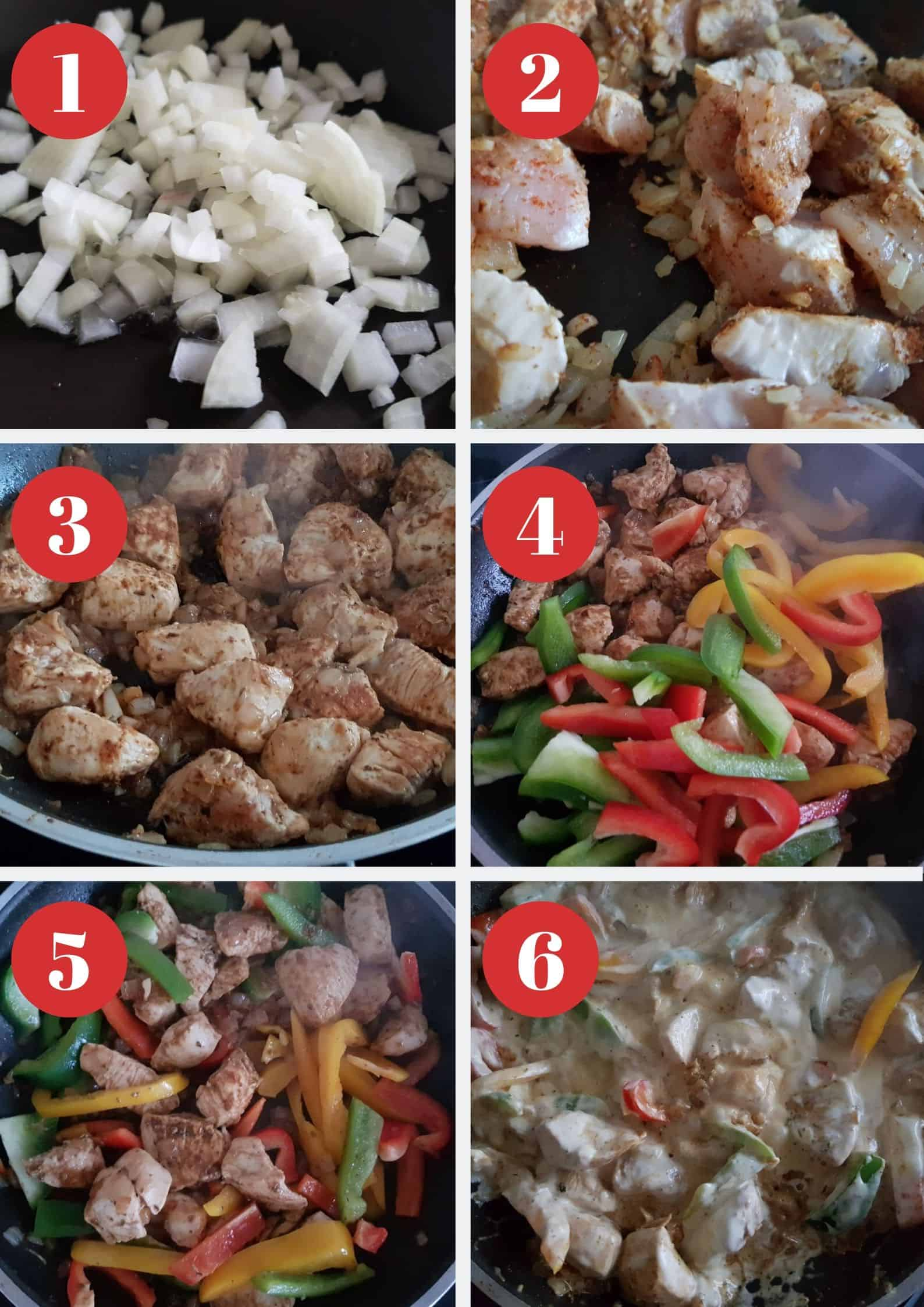 Infographic showing step by step how to make this recipe