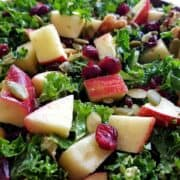Kale salad with apples and cranberries