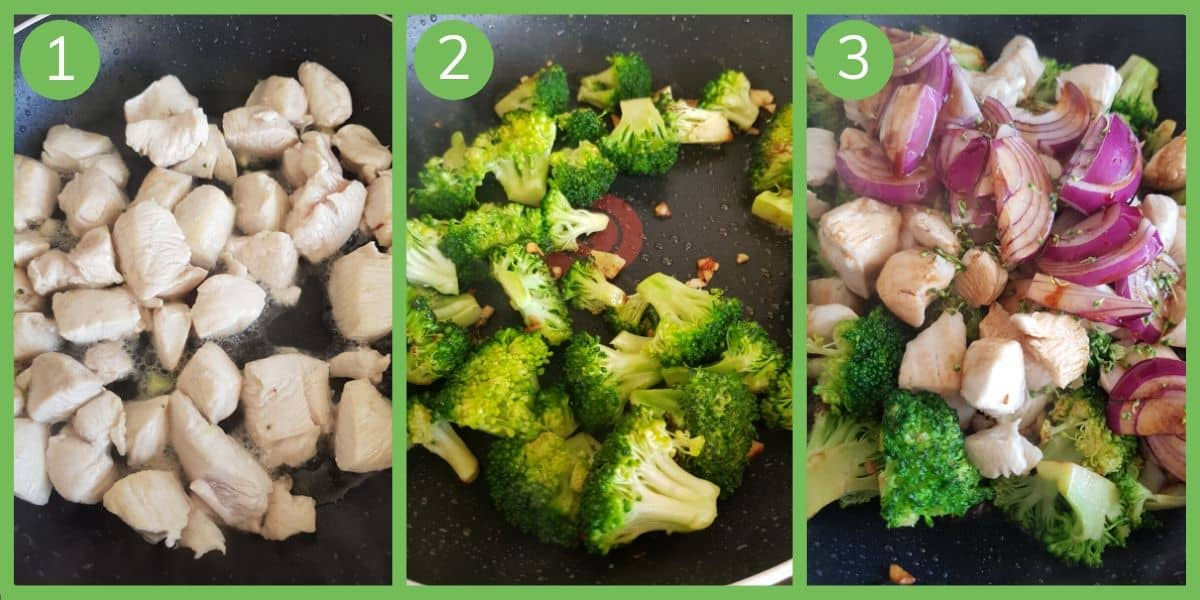 Step by step how to make chicken and broccoli stir fry.