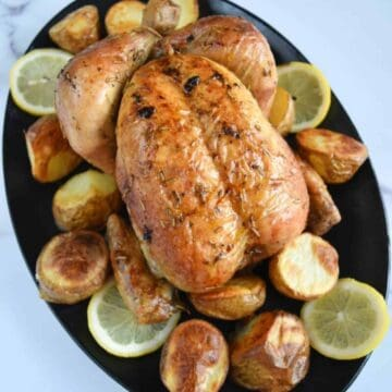 Lemon roast chicken.