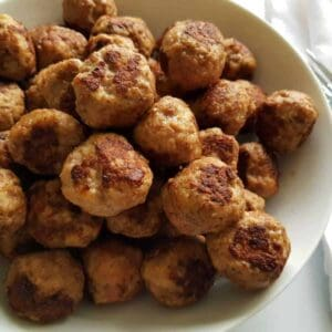 meatballs with ground beef and pork.