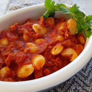 bean and chorizo stew.