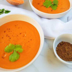sweet potato red pepper soup.