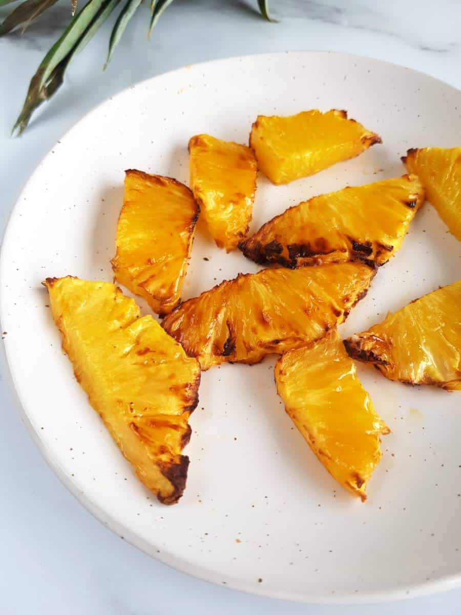 Air fryer roasted pineapple.