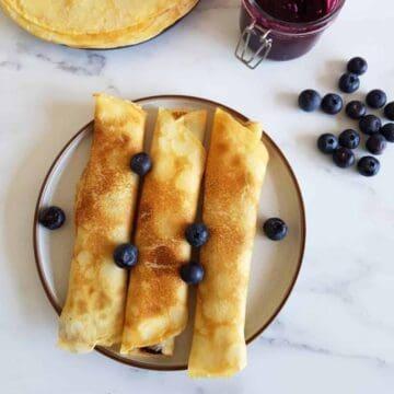 Norwegian thin pancakes.