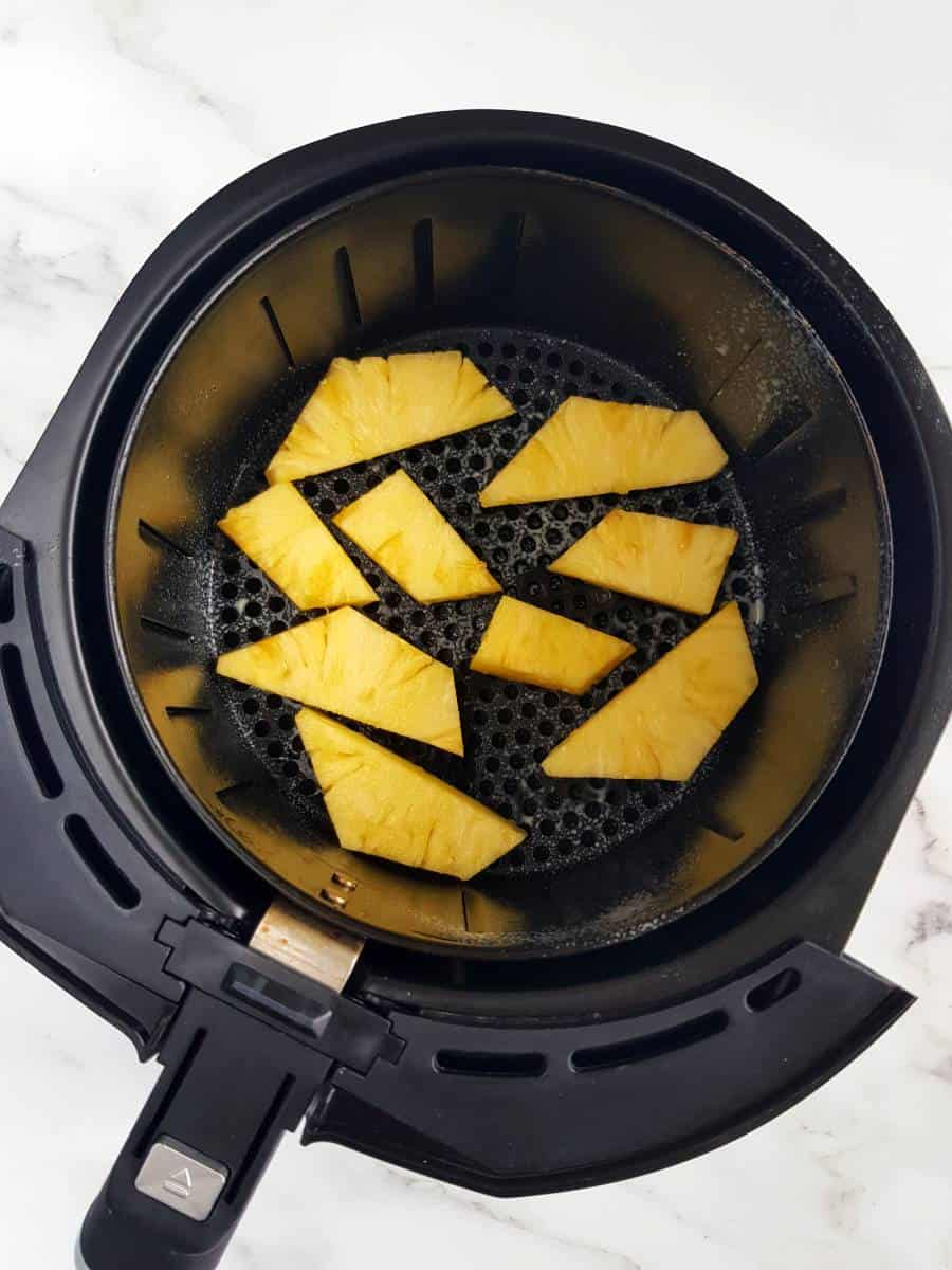 Pineapple in an air fryer.