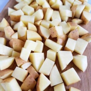 How to freeze potatoes in cubes.