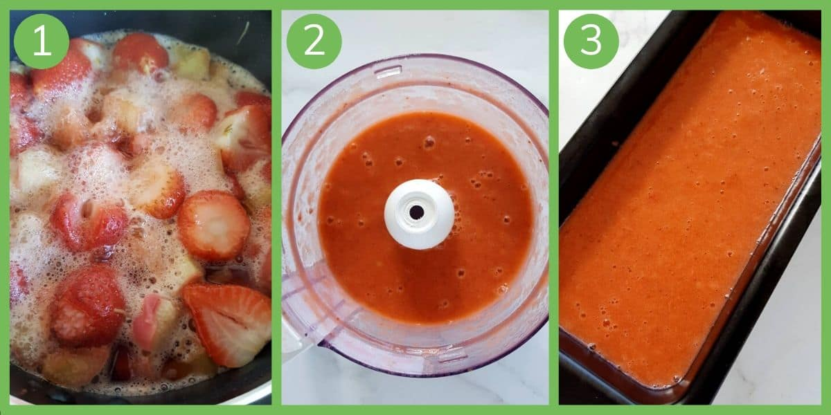 How to make strawberry and rhubarb sorbet.