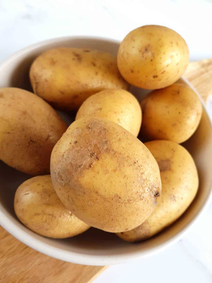 Potatoes in a bowl.