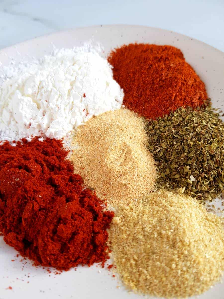 Spices on a plate.