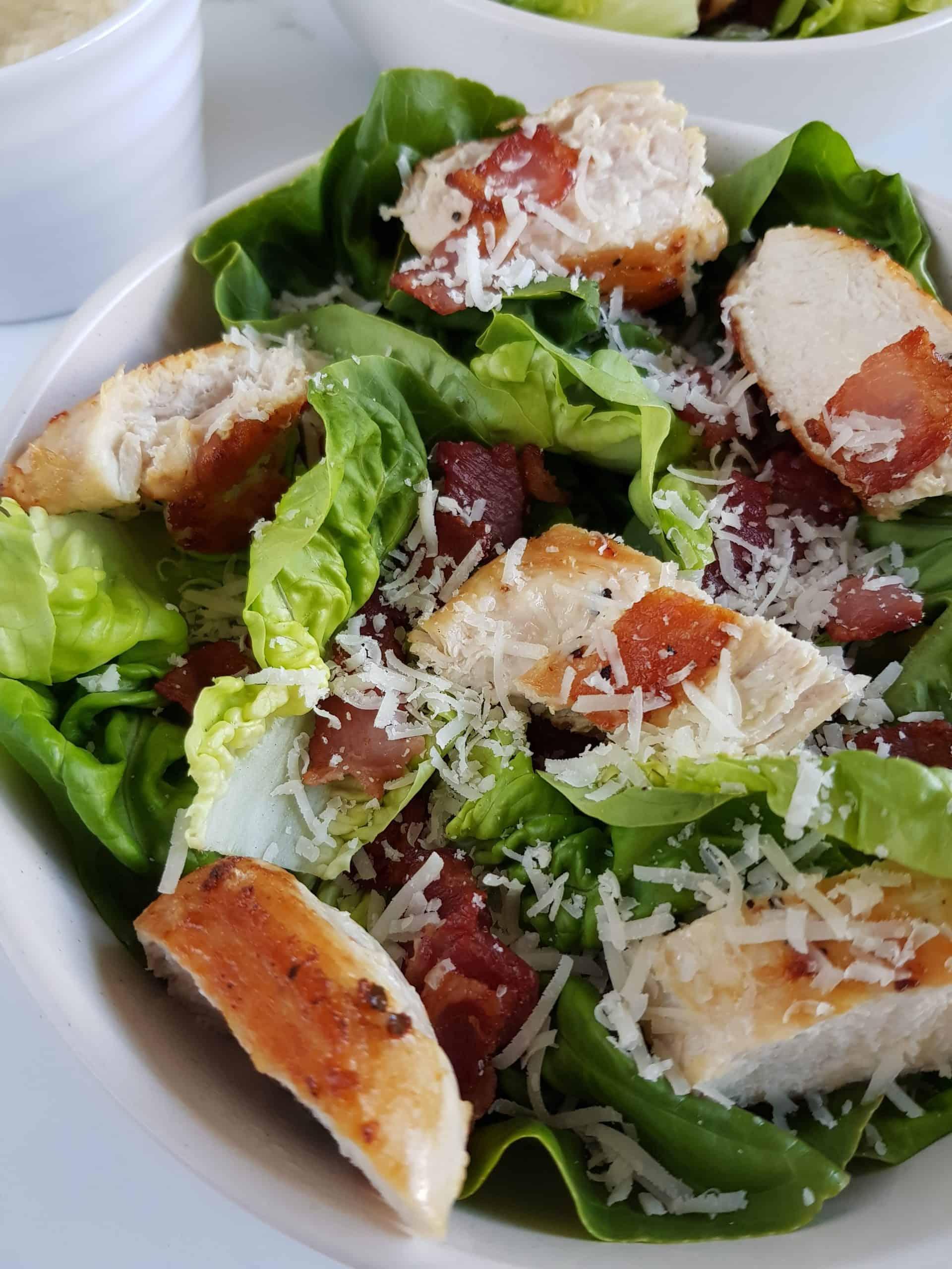 keto chicken bacon salad.