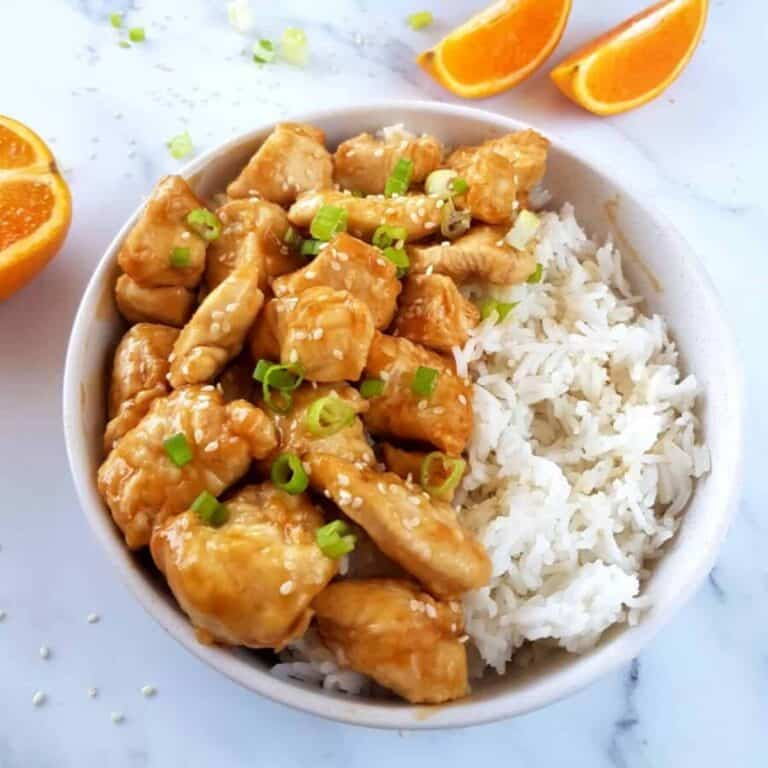 Air fryer orange chicken.