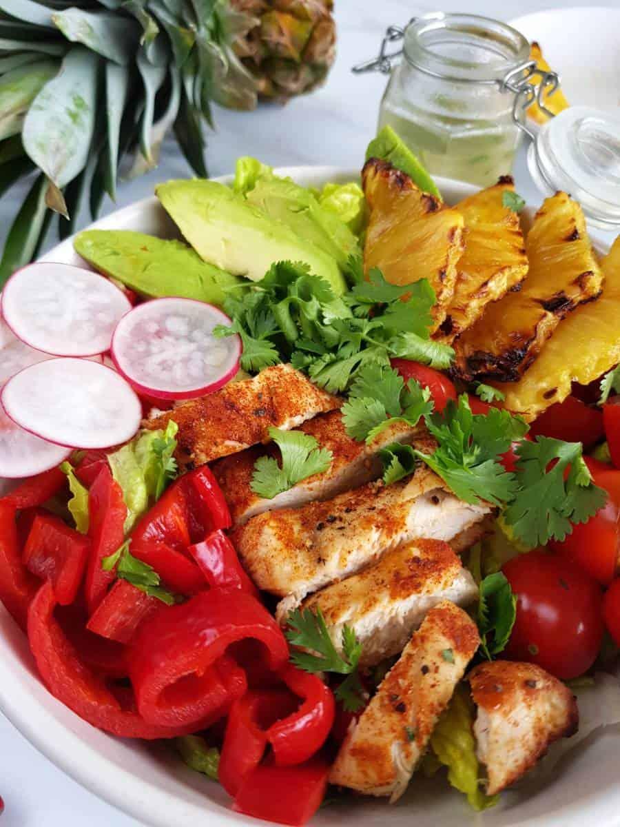 Avocado pineapple chicken salad.