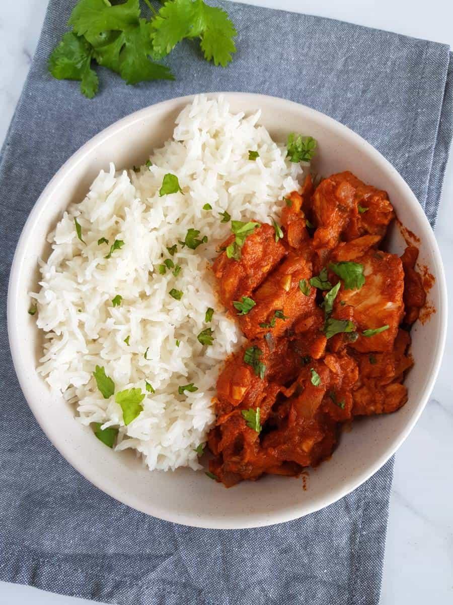 Basa fish curry.