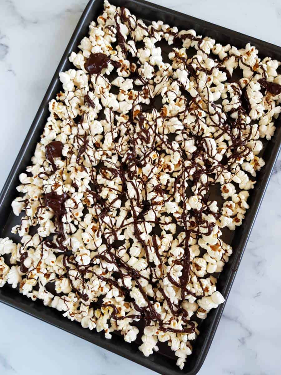 Chocolate covered popcorn.