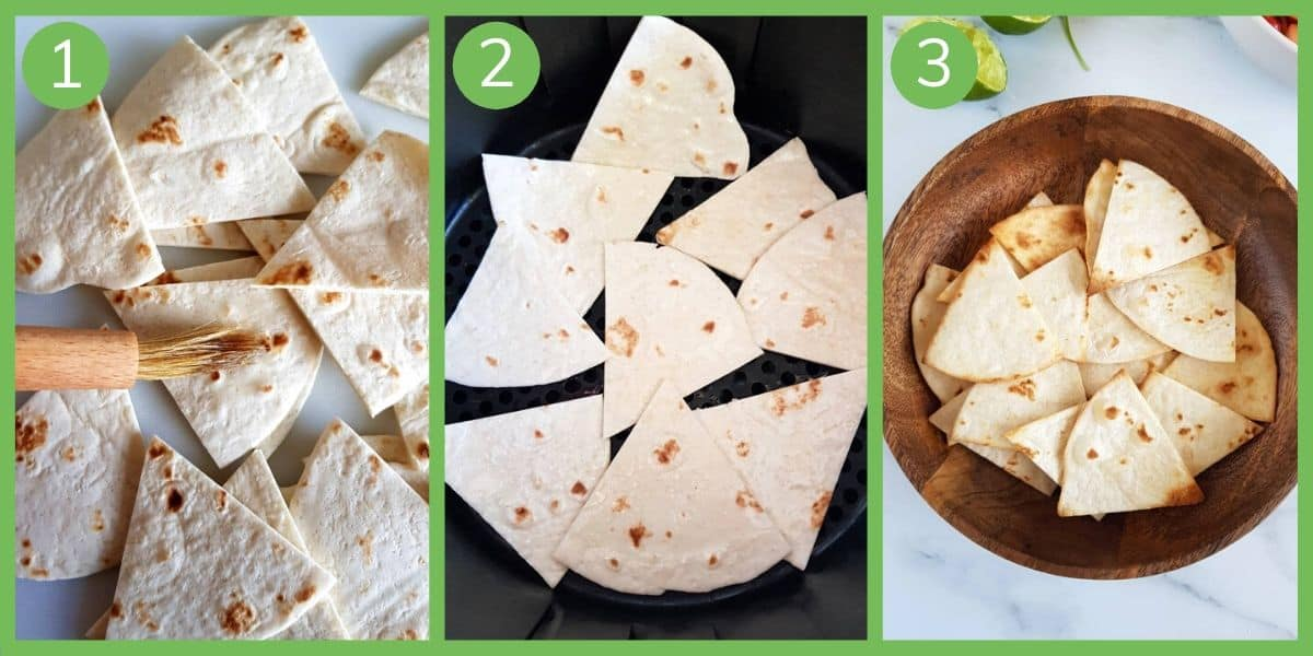 How to make air fryer tortilla chips.