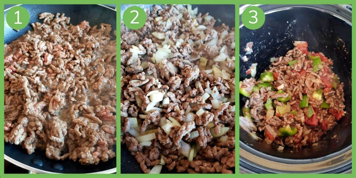 How to make slow cooker picadillo.