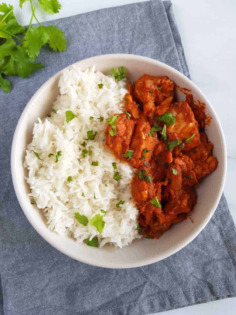 Indian fish curry.