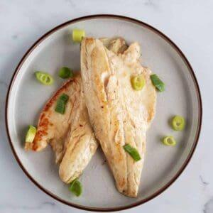 Miso paste glazed sea bass.