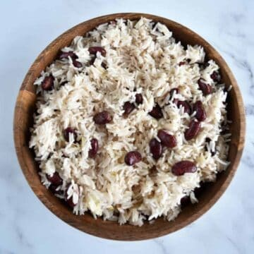 Red beans and coconut rice.