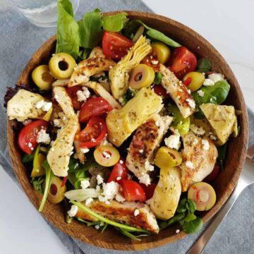 Artichoke chicken salad.