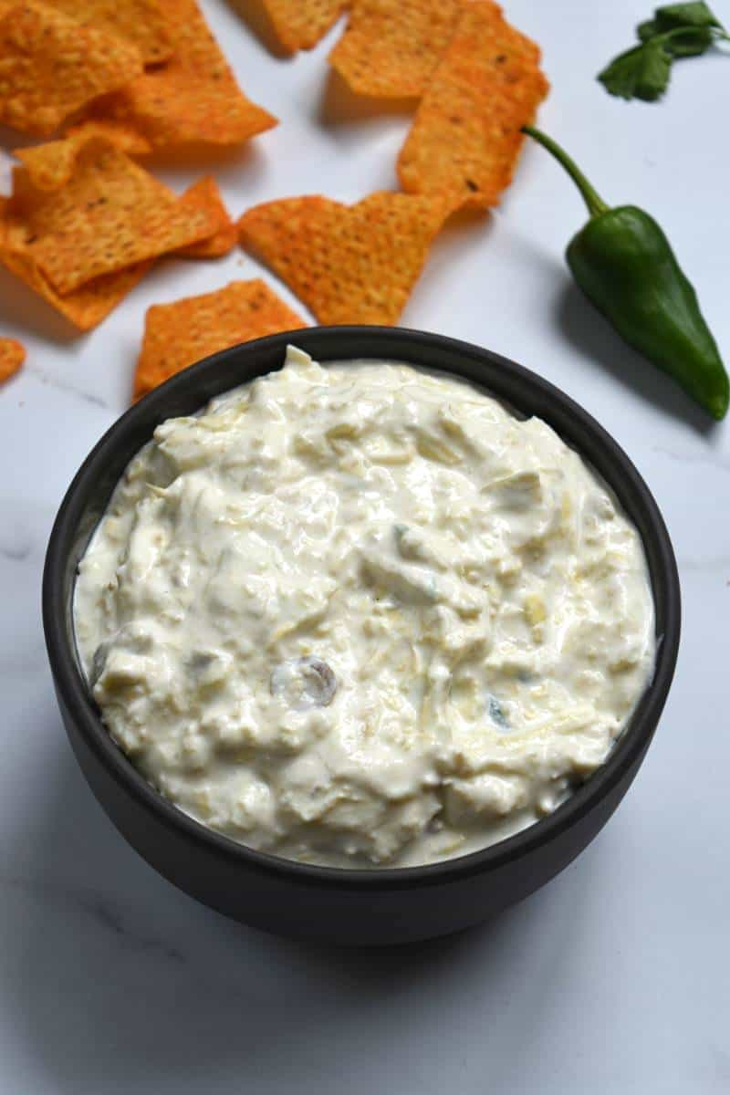 Dip with jalapeno and artichoke.