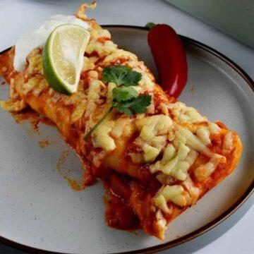 Ground Turkey Enchiladas.