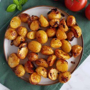 Honey roasted potatoes.