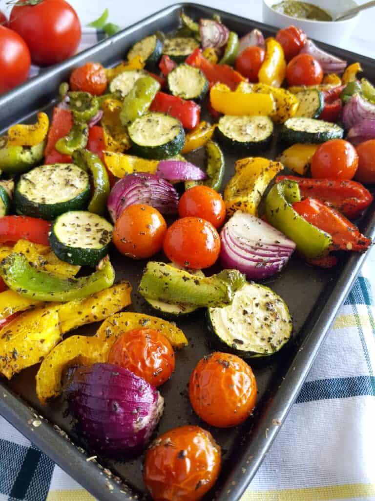 Mediterranean roast vegetables.