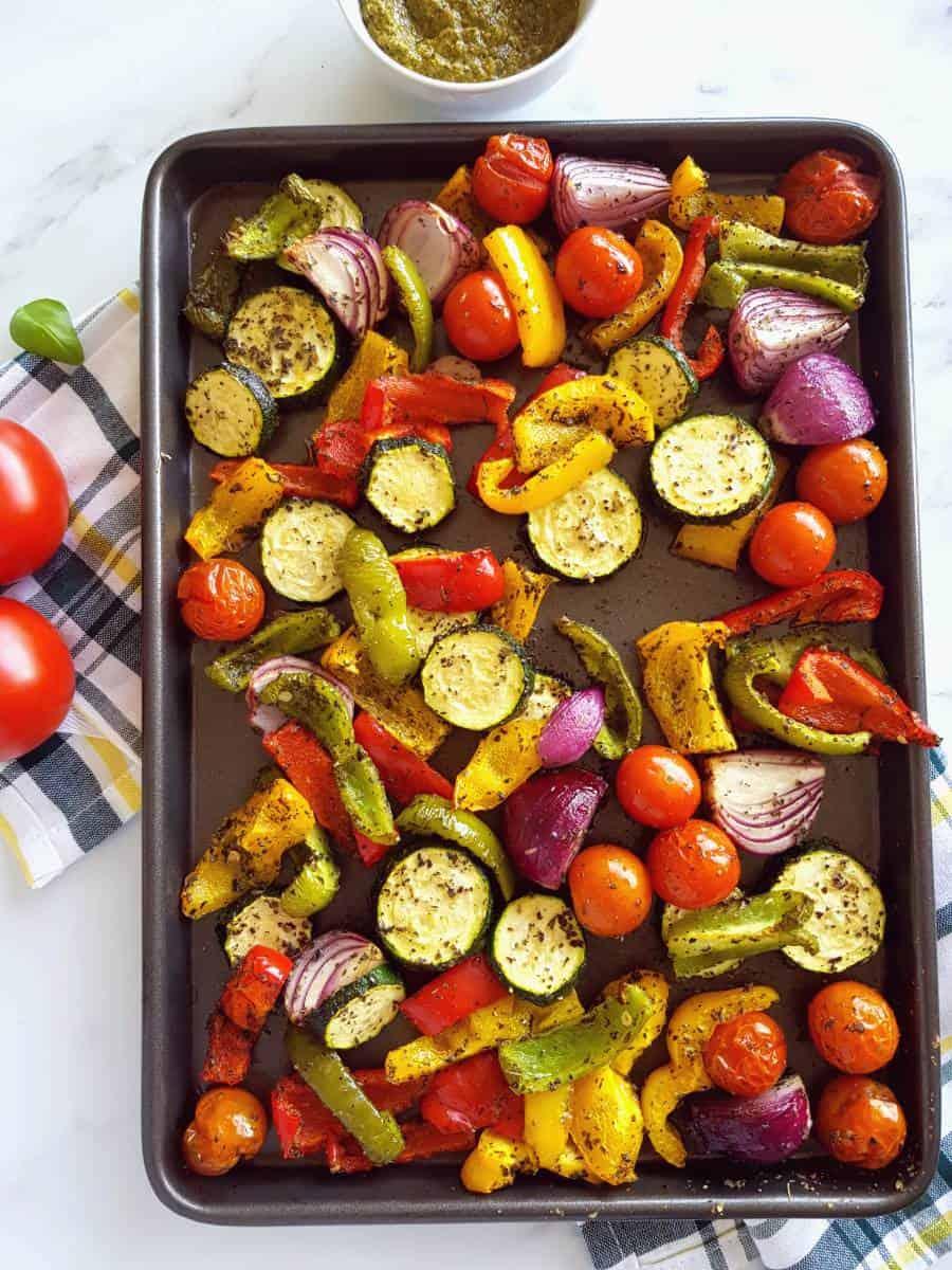 Mediterranean roasted vegetables.