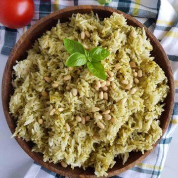 Pesto Rice.