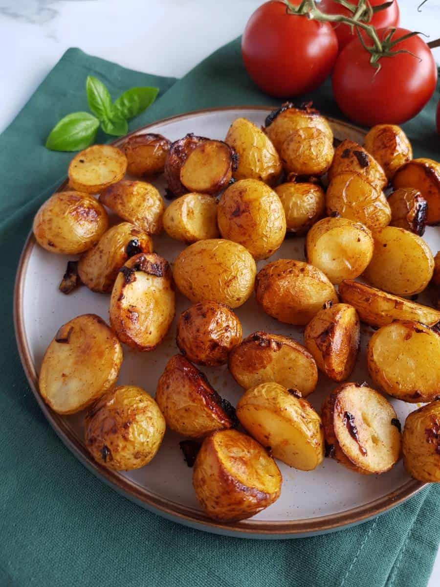 Potatoes roasted with honey.