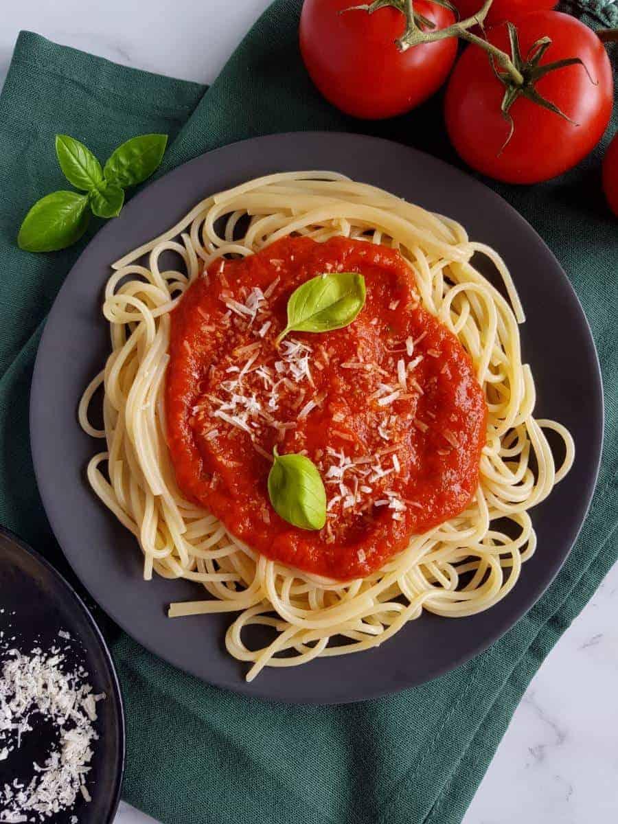 Vegan spaghetti sauce.