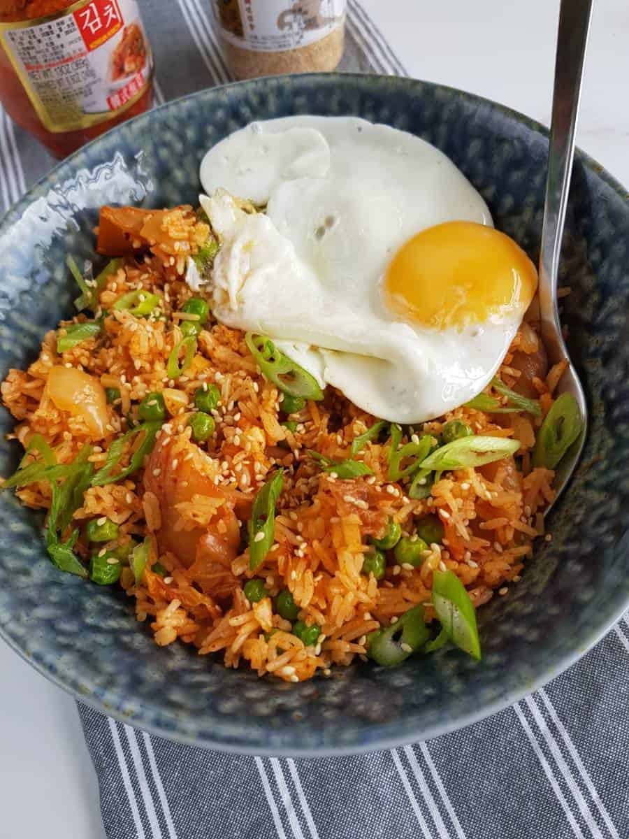 fried rice with kimchi.
