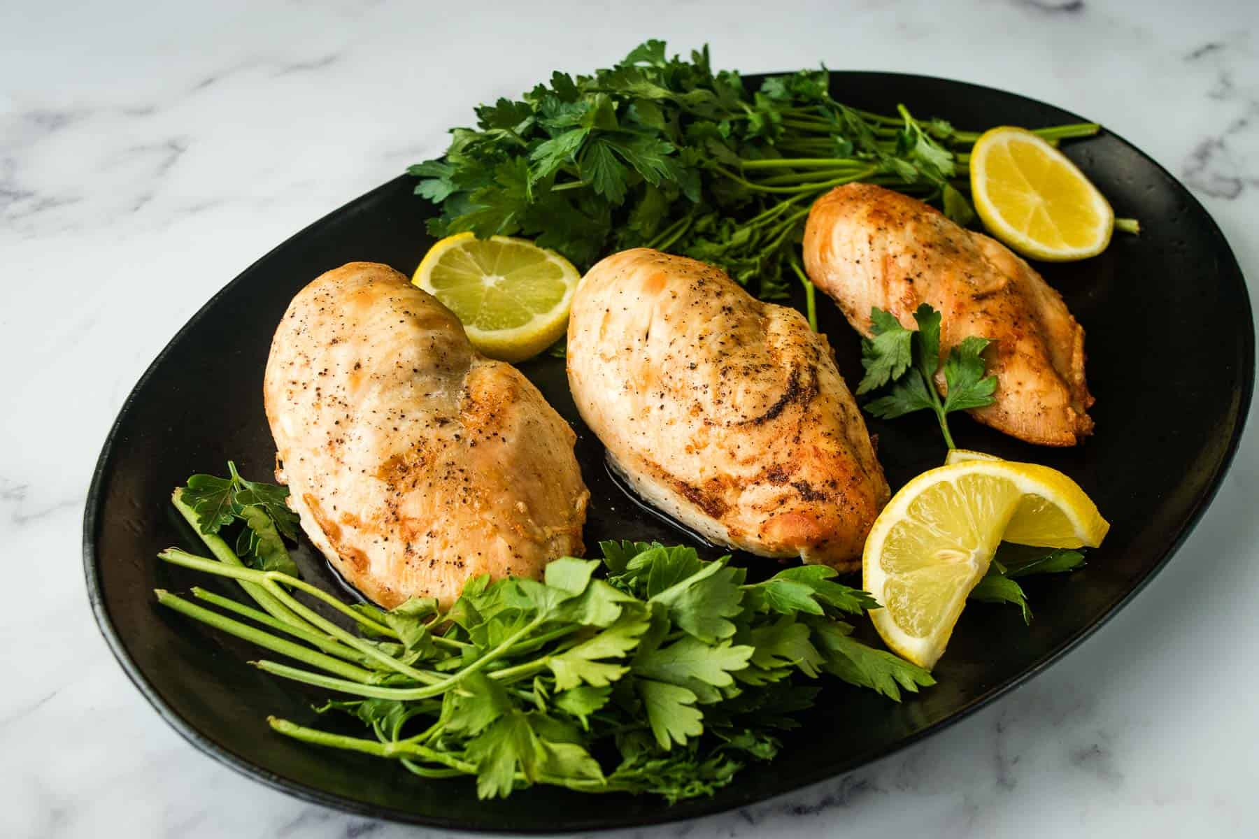 Juicy and tender chicken fillets.