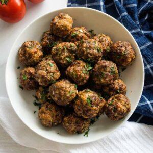 Air Fryer Meatballs.