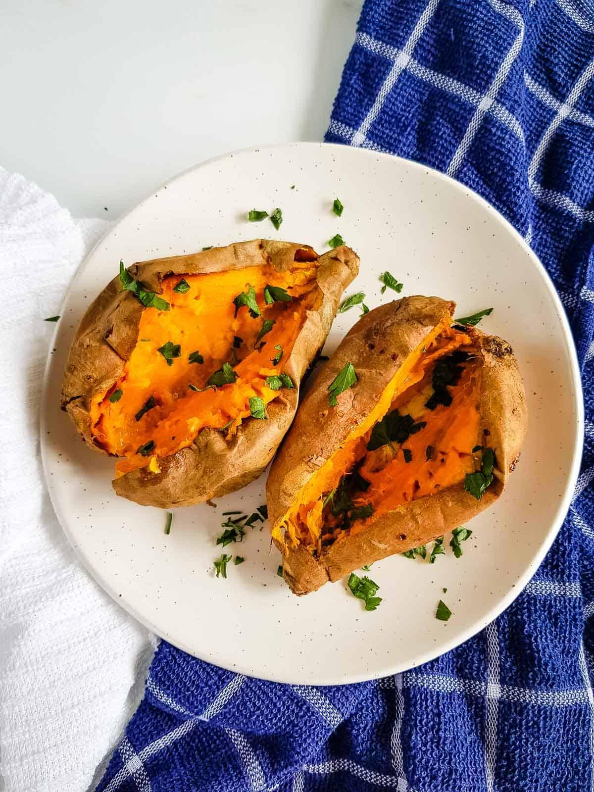 Sweet potatoes roasted in air fryer.