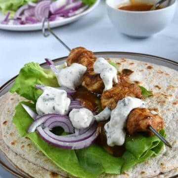 Chicken Tikka Wraps.