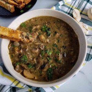 Healthy Mushroom Soup.