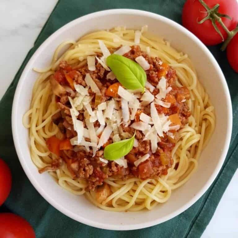 Healthy bolognese.