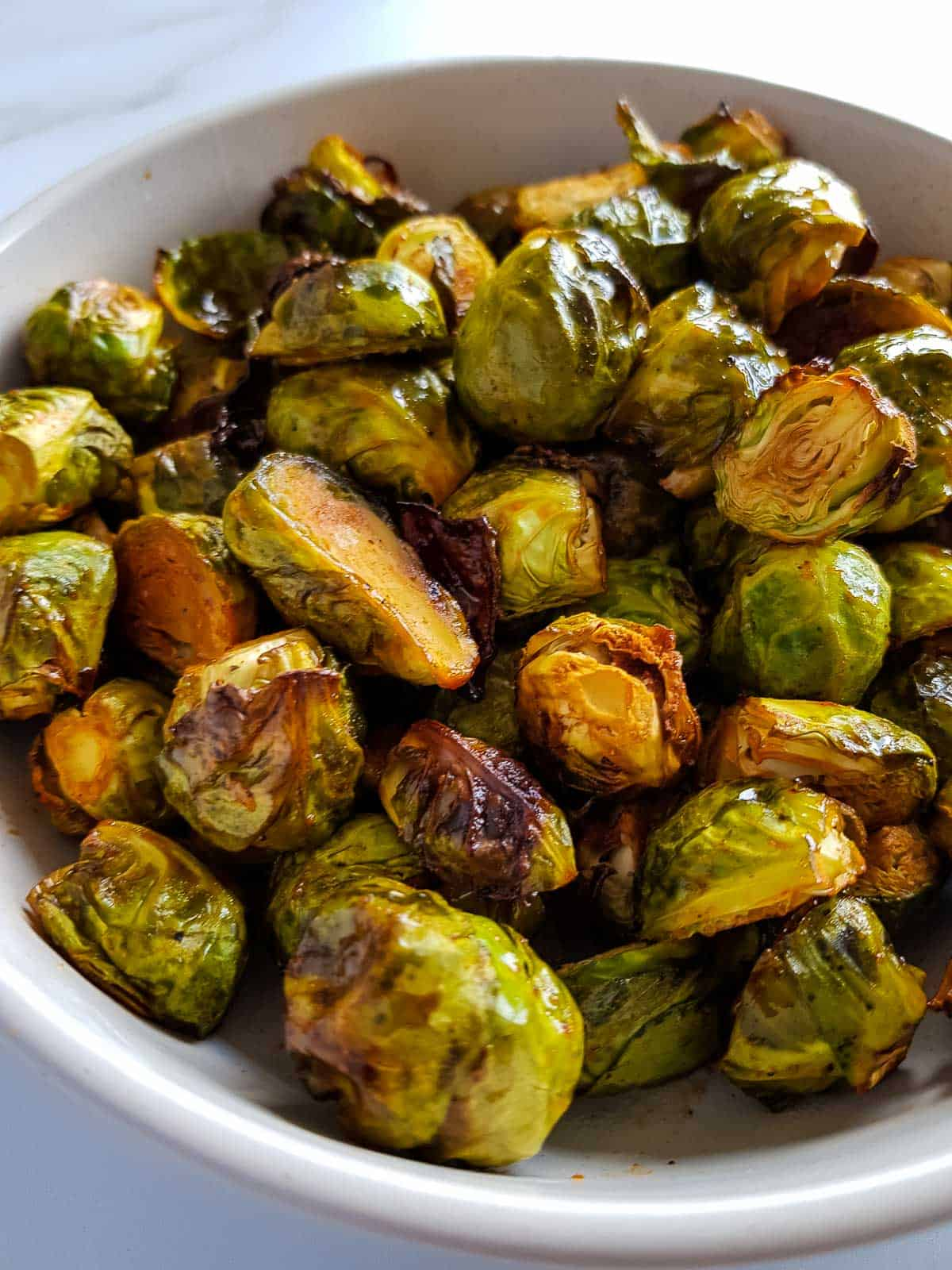 Close up of brussels sprouts.
